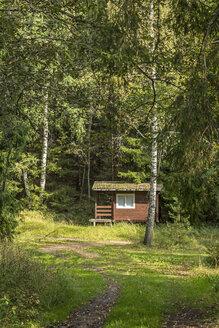 Estonia, Valga County, Otepaeae, small hut in the forest at Puehajaerv - MELF000096
