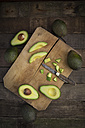 Whole and sliced avocado - LVF003975