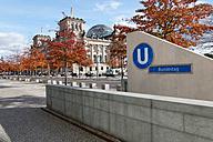 Germany, Berlin, Bundestag Underground Station - KLR000231