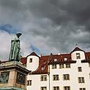 Germany, Baden-Wuerttemberg, Stuttgart, Schiller statue and alte Kanzlei - ELF001646