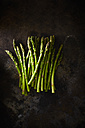 Green asparagus on rusty metal - KSWF001650
