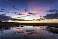 Scotland, East Lothian, Sunset across Aberlady Bay - SMAF000371