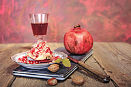 still life with juice, pomegranate and nuts - VTF000453