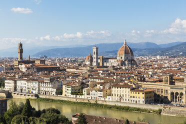 Italy, Tuscany, Florence, Cityscape, Palazzo Vecchio, Campanile di Giotto and Florence Cathedral - FOF008296