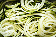 Courgette, vegetable noodles, close-up - EVGF002477