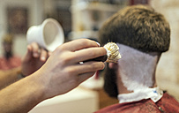 Barber shaving customer - MGOF000886