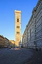 Italy, Florence, view to Basilica di Santa Maria del Fiore and Campanile di Giotto - FOF008302