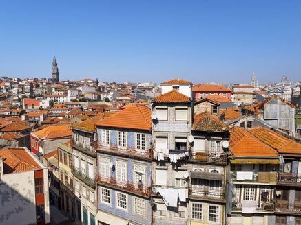 Portugal, Grande Porto, View of Porto, Torre dos Clerigos in the background - LAF001499