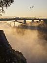 Portugal, Grande Porto, Porto, Luiz I Bridge in the evening - LAF001517