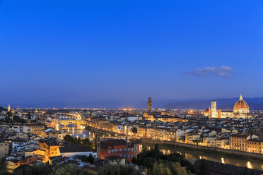 Italy, Tuscany, Florence, Cityscape in the evening - FOF008342