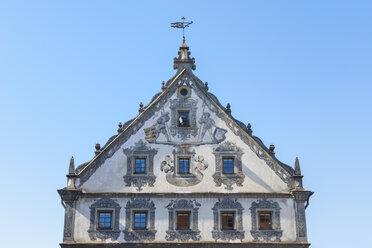 Germany, Baden-Wuerttemberg, Ravensburg, facade of the Lederhaus - ELF001666