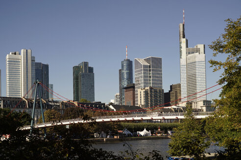 Germany, Frankfurt, financial district and Main river - PCF000193