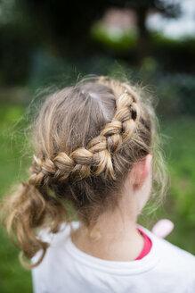 Braided hair of a blond girl - RAEF000601