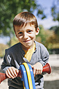 Portrait of smiling boy at the playground - EBSF000987