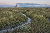 Germany, Schleswig-Holstein, North Sea Coast, View of Westerheversand Lighthouse - KEBF000254