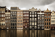 Netherlands, Amsterdam, Row of houses at a gracht - EVGF002490