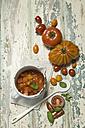 Different tomatoes, tomato sugo in pot - ASF005721