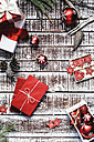 Red Christmas presents and Christmas decoration - AKNF000026