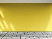 3D rendering of interior yellow wall and concrete floor - UWF000651