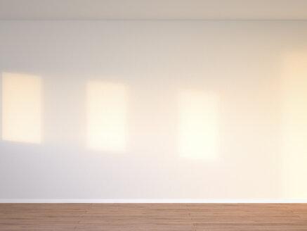 3D rendering of interior concrete wall and wooden floor - UWF000654
