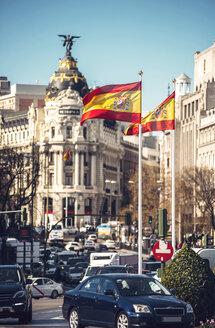 Spain, Madrid, Plaza de Cibeles with Metropolis Building - EHF000319