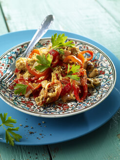 Menemen, Turkish scramled eggs with capsicum, tomatoes and onions - SRSF000600