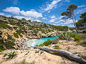 Spain, Baleares, Mallorca, View of bay Calo des Moro - AMF004391