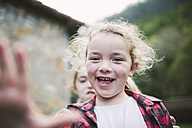 Portrait of laughing blond girl - RAEF000645