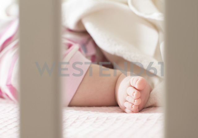 Foot of baby girl in a cot - DEGF000577 - Deyan Georgiev/Westend61