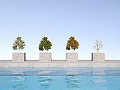 3D Rendering, four season on bases, swimming pool - UWF000674