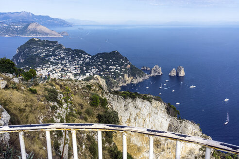 Italy, Capri, View from Monte Solaro to Faraglioni - WEF000403