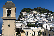 Italy, Capri, historic old town, bell tower - WEF000413
