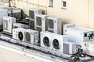 Italy, Capri, air conditioners on house - WE000416