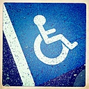 Disabled parking sign - JUNF000459