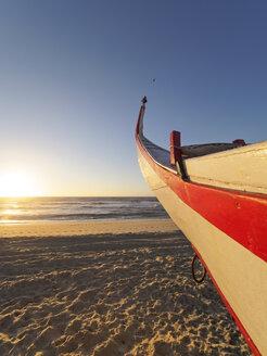 Portugal, Praia de Mira, fishing boat on the beach - LAF001570
