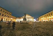 Germany, Munich, view to Bavarian State Opera House by night - KRPF001644