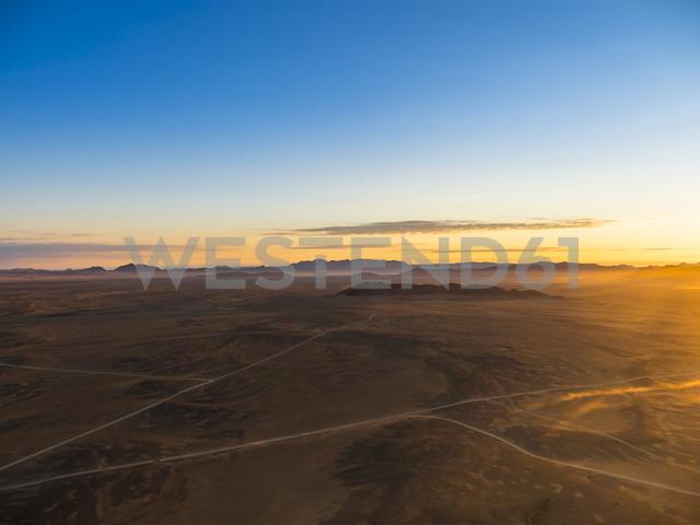 Africa, Namibia, Hardap, Hammerstein, Kulala Wilderness Reserve, Tsaris Mountains, Sossusvlei Region, Namib desert at sunset - AMF004434