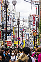 Japan, Osaka, Dotonbori, Shopping street and commercial signs - THA001476