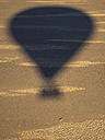 Namibia, Sossusvlei, Kulala Wilderness Reserve, shadow of an air balloon - AMF004464