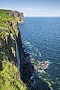 Scotland, Isle of Skye, cliff Kilt Rock and Mealt waterfall - ELF001726