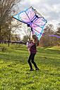 Young girl with kite - SARF002348