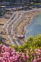 Greece, Aegean Islands, Rhodes, Lindos, View of beach - WDF003432