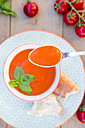Spoon of tomato cream soup - LVF004220