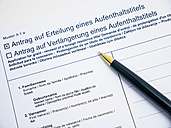 German document for renewal of a foreign residence title - AM004526