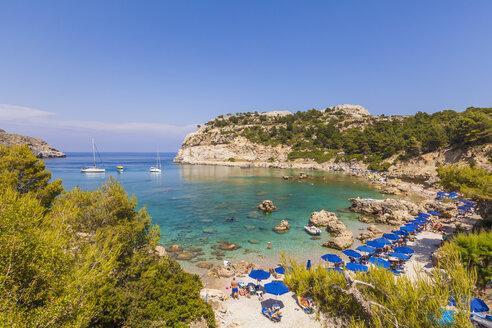 Greece, Rhodes, Anthony-Quinn-Bay near Ladiko - WDF003448