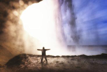 Iceland, Seljalandsfoss Waterfall - SMAF000403