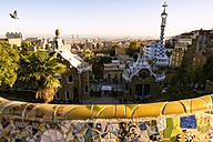 Spain, Barcelona, Cityscape from Gueell Park - KIJ000036