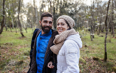 Happy couple in the forest - MGOF001175