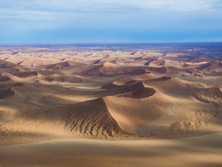 Namibia, Hardap, Hammerstein, Kulala Wilderness Reserve, Tsaris Mountains, Sossusvlei Region, Namib desert, aerial view - AMF004557