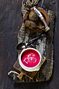 Bowl of beetroot soup - SBDF002587